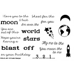 Frantic Stamper Clear Stamp Set - Sentiments From Space