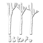 Frantic Stamper Precision Die - Birch Tree Forest