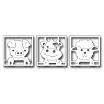 Frantic Stamper Precision Die - Peeking Barn Animals