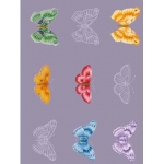 Vellum Butterflies 5 Sheets