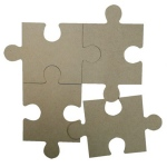 Ecstasy Crafts Joy! Crafts Mdf Puzzle Pieces