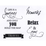 Ecstasy Crafts Joy! Crafts - Life Is A Journey Stamp Set
