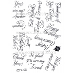 Creative Expressions Elegant Sentiments Stamp Set
