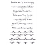 Creative Expressions Baroque Border Sentiments -A5 Clear Stamp Set