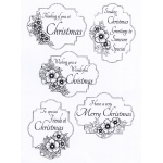 Creative Expressions  - Clear Stamp Set - Christmas Rose Sentiments