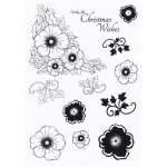 Creative Expressions  - Clear Stamp Set - Christmas Rose Elements