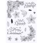 Creative Expressions - Clear Stamp Set - Poinsetttia Corner Elements