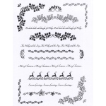 Creative Expressions  - Clear Stamp Set - Christmas Borders And Flourishes