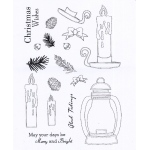 Creative Expressions  - Clear Stamp Set - Candle Lit Christmas