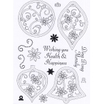 Creative Expressions  - Clear Stamp Set - Stitched Baubles