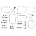 Creative Expressions - Clear Stamp Set- Festive Speech Bubbles