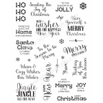 Creative Expressions  Stamps - Santa's Sentiments