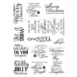 Creative Expressions Stamps - Holly Jolly Sentiments