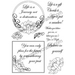 Creative Expressions Clear Stamps - Lotus Frame Stamp Set