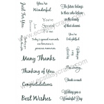 Creative Expressions Sentiment Stamp Set 2