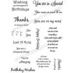 Creative Expressions Sentiment Stamp Set 1