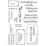 Pierced Tag Sentiments Stamp Set