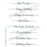Sentimentally Yours Clear Stamp - Scribbled Sentiments