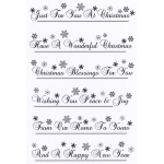 Creative Expressions Snowflakes Sentiments Border Clear Stamp Set