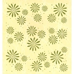 "Embossing folder background Flowers 6"" x 6.5"""