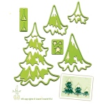 Lea'bilities Embossing and Cutting Die - Christmas trees