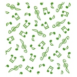 Lea'bilities Embossing Folder - background Musical symbols