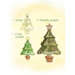 Lea'bilities Clear Stamp - Christmas tree