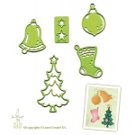 Lea'bilities Embossing and Cutting Die - Christmas ornaments small