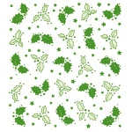 Lea'bilities Embossing Folder - background Holly Leaves