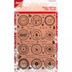 Ecstasy Crafts Clear Stamp Set - Happy Holidays