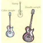 Doodle clear stamp Guitar