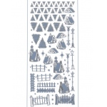 Stickers - Winter Scenery - Mirror Ice Blue