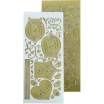 Leane Creatief Lecrea Design Sticker - Birdcage - (gold)