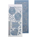 Leane Creatief Lecrea Design Sticker - Birdcage - Mirror Ice (blue)