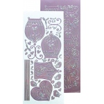 Leane Creatief Lecrea Design Sticker - Birdcage - Mirror Candy (mauve)