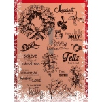Ecstasy Crafts Clear Stamp Set - Christmas Season Stamps