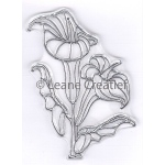 Doodle clear stamp Calla
