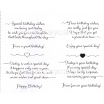 Creative Expressions Scribbled Birthday Verses-A5 Clear Stamp Set