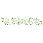 Lea'bilities Border Embossing Folder - Holly leaves