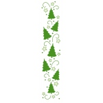 Lea'bilities Border Embossing Folder - Christmas trees