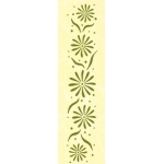 "Leane Creatief Border Embossing Folder Flowers 1"" X 6"""