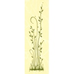 "Border embossing folder Grass long 1"" x 6"""