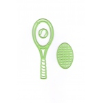 Lea'bilitie® Tennis racket, cut and embossing die