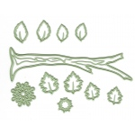 Lea'bilitie Die - 4 Seasons Branch/Leaves (11 pieces)