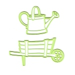 Lea'bilities Wheel Barrow and Watering Can Embossing and Cutting Die