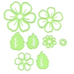 Lea'bilities Embossing and Cutting Die - Multi die flower blossom