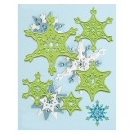 Lea'bilities snow crystal cutting and embossing die