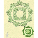 Lea'bilitie® frame round lace cut and embossing die