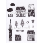 LeCreaDesign® Clear stamp Houses