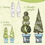Lea'bilities Clear Stamp Conifers